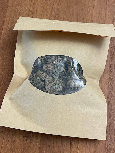 Bagged hemp flower standard or infused with extract